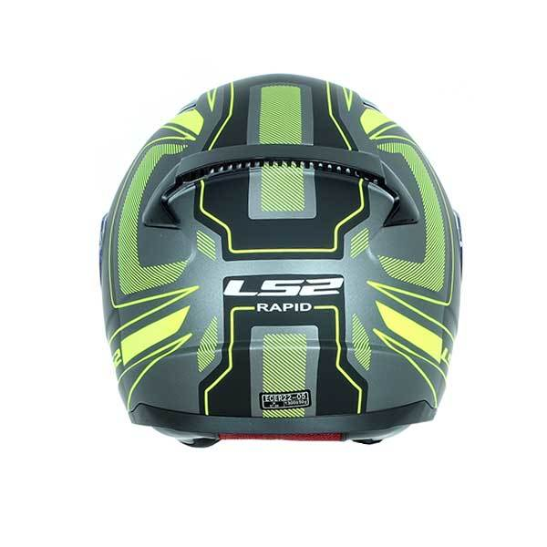 Casco LS2 FF353 Rapid Carrera negro amarillo Mate