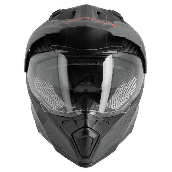 Casco Astone CrossMax Graphic Negro