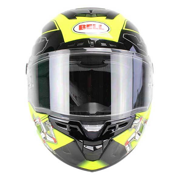 Casco Bell Star Isle Of Man Negro Amarillo
