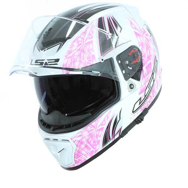 Casco LS2 FF390 Breaker Rumble blanco rosa